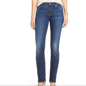 7FAM Kimmie Straight Leg Dark Wash Jeans 27